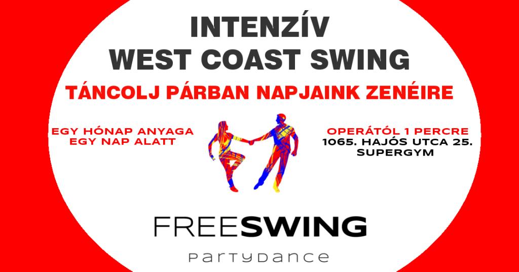 Kezdő west coast swing intenzív tanfolyam