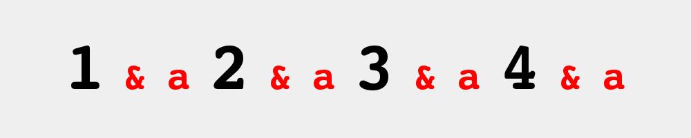 1 & a 2 & a 3 & a 4 & a west coast swing számolás