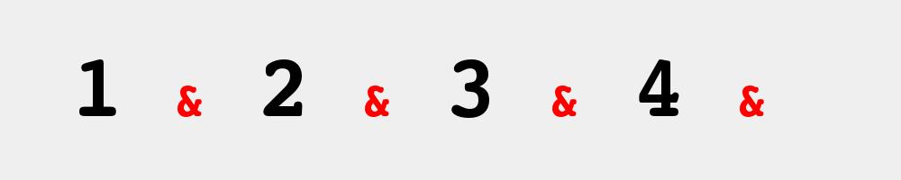 1 & 2 & 3 & 4 & west coast swing számolás